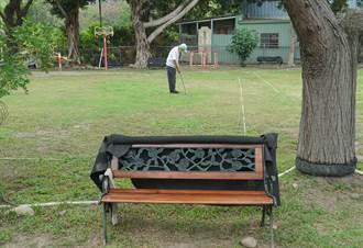 健民里槌球場 新增公園椅休憩打球很方便