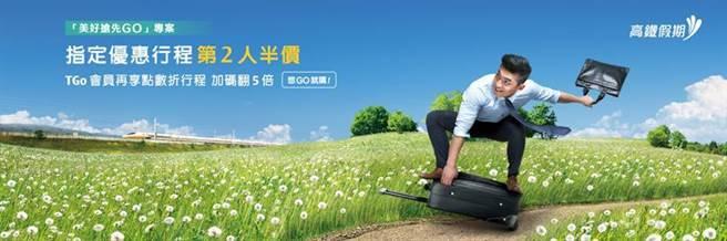 (高鐵「美好搶先GO」再推出第二波旅運振興專案,高鐵假期「第二人半價」專案16條指定行程接續開賣。圖/台灣高鐵提供)