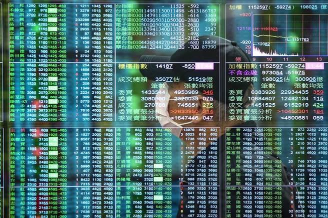 台股電子股近來大跌,不如原物料、航運等傳產股表現。(資料照)