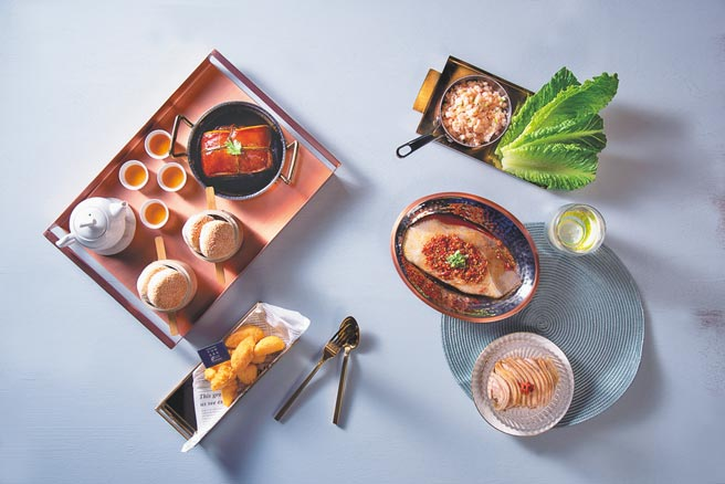 飯BAR Station微風信義店為小家庭設計母親節「4人絲路套餐」。(飯BAR Station提供)