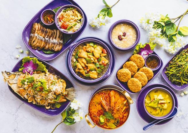 NARA Thai Cuisine泰式料理推出以「茉莉花」為主題的母親節套餐,研發前菜、海鮮及甜點共3款母親節限定餐點。(金田餐飲提供)