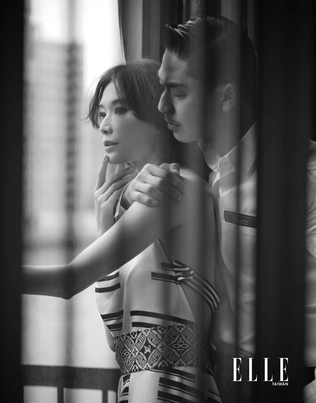 林志玲、AKIRA婚後甜蜜。(圖/《ELLE》國際中文版雜誌提供)