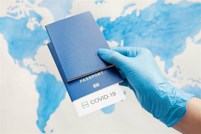 疫苗護照示意圖。(圖/Shutterstock)
