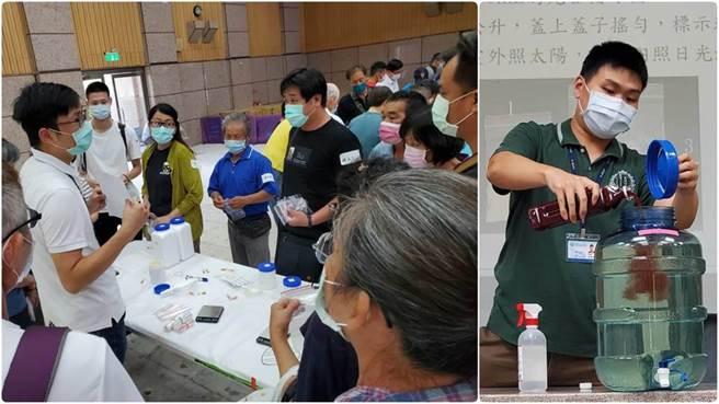 食品所團隊示範光合菌培養與學員實作課程。(食品所提供)