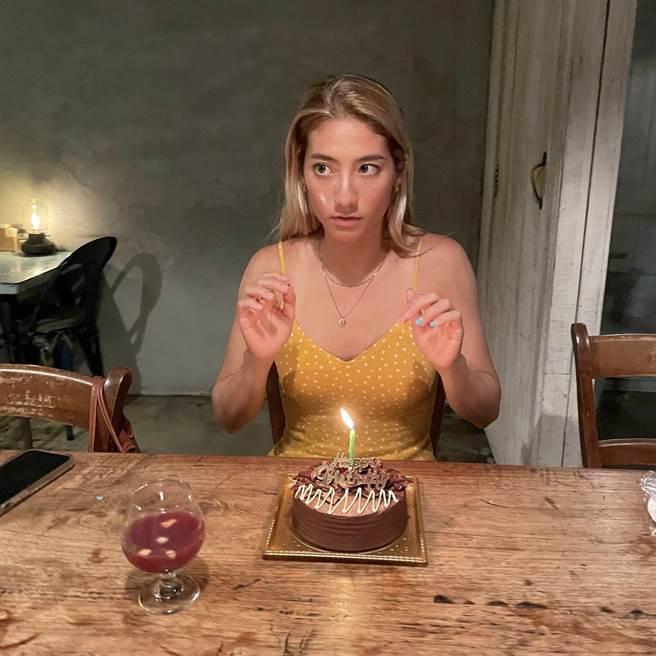 瑞瑪席丹在墾丁歡慶自己的31歲生日 。(彥恩國際提供)