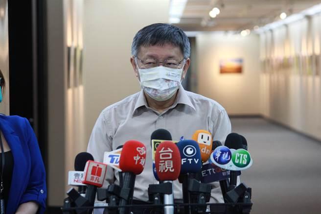 台北市長柯文哲。(張薷攝)