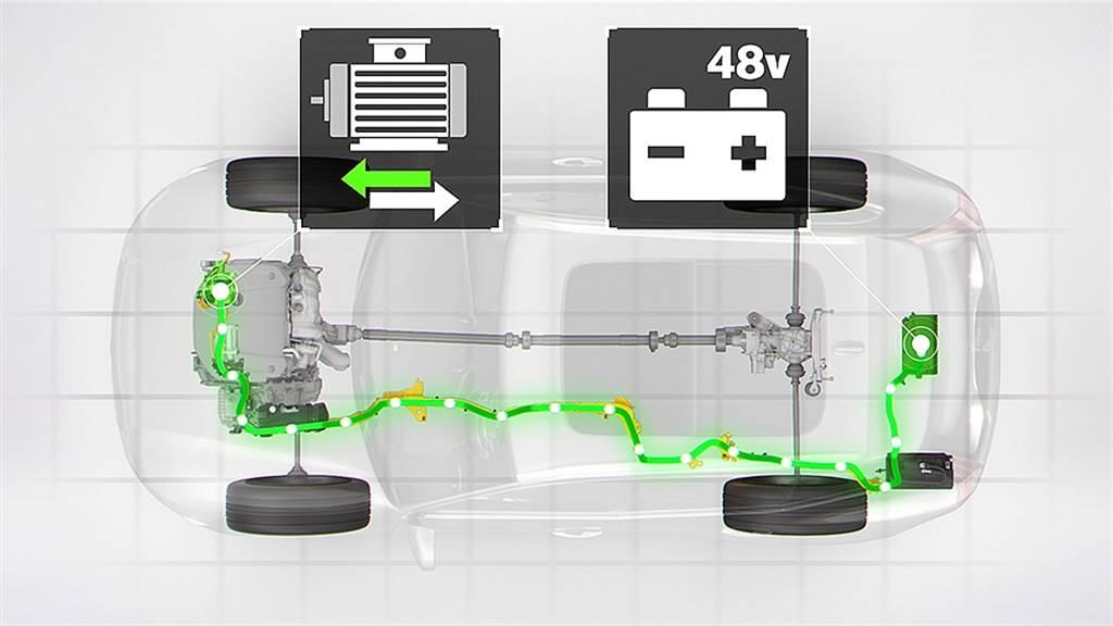 48V鋰電池組為Start/Stop怠速熄火裝置帶來更平順的作動,大幅減輕傳統 12V電瓶的消耗與負載,即便長時間停等紅燈,電力系統亦不致於負載過重,除了優化油耗表現,也能有效減少怠速熄火啟動的時間與震動的不適感。