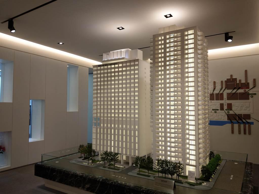 全台多個包銷建案持續銷售貢獻,推升海悅營收成長,圖為高雄「和陸寓邸」。(葉思含攝)