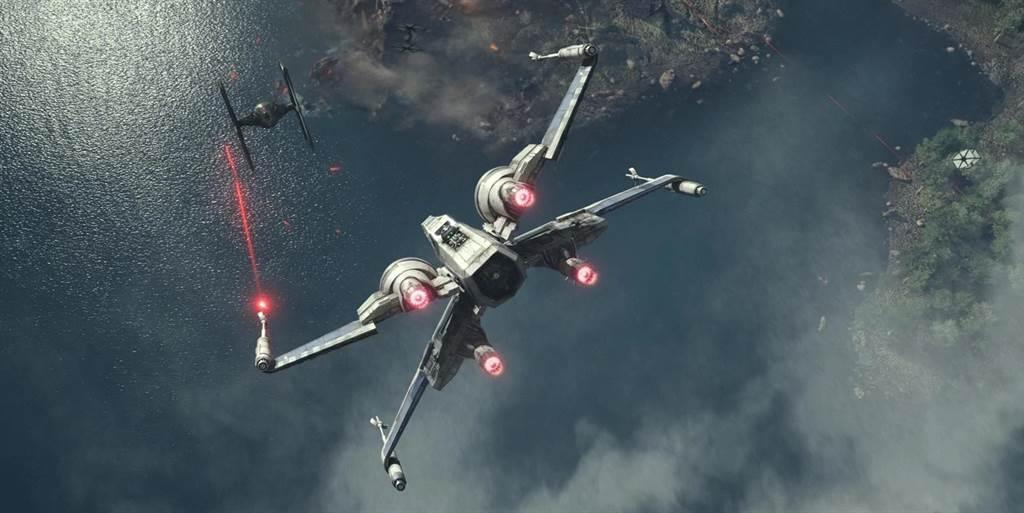 星際大戰的X戰機,將降落在美國航太博物館。(圖/Lucasfilm)