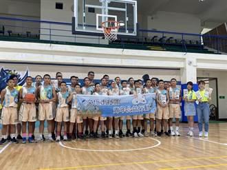 連勝文關懷台東偏鄉 勉勵學生多打籃球