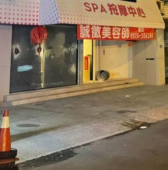 感情糾紛爆衝突 彰化知名護膚店遭大批黑衣人砸爛