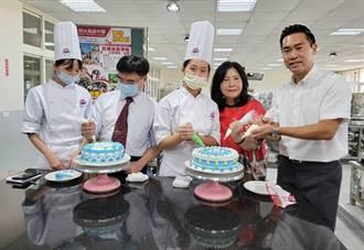 復古奶油霜蛋糕上桌 見證烘焙食品科學習成果