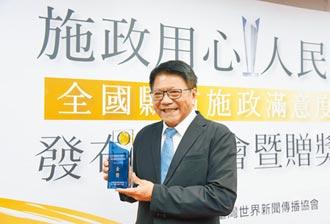 潘孟安施政滿意度83.1% 獲金獎