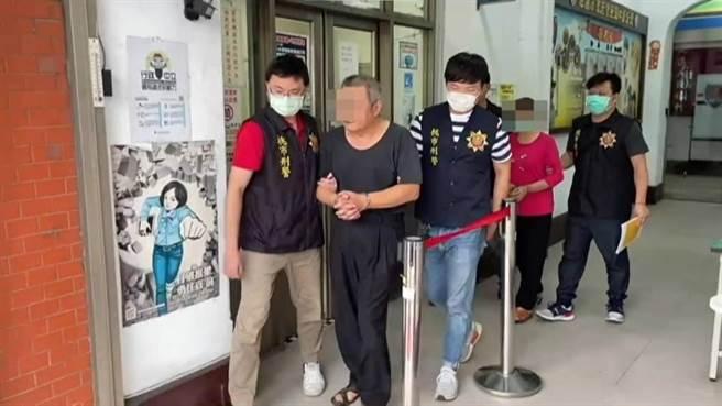 施姓男子與其高姓妻子因毒品通緝被警方逮捕偵辦。(警方提供/呂筱蟬桃園傳真)