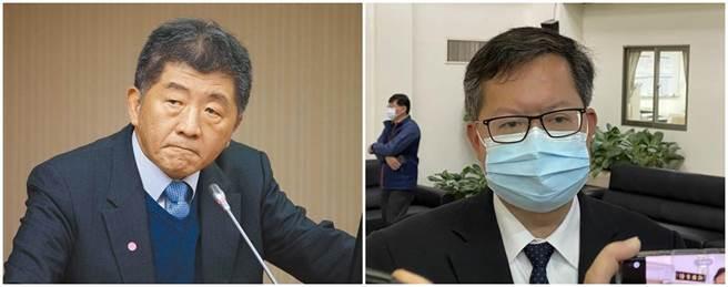 衛福部長陳時中(左圖)、桃園市長鄭文燦(右圖)。(本報系資料照)