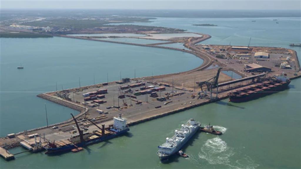 澳洲執政黨近期質疑達爾文港的租賃合約可能違反國家安全,要求國防部重審,如果澳洲違約收回,估計要負擔約5億澳元的賠償金。(圖/澳洲北領地政府)