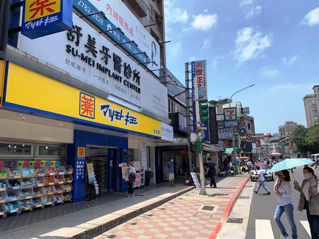 內湖區東湖路今年3月出現一筆總價破億的店面交易,為日系藥妝「松本清東湖店」。(台灣房屋提供)