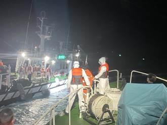 基隆捕蟹船火燒船11船員跳海逃生 9人獲救船長兄弟下落不明