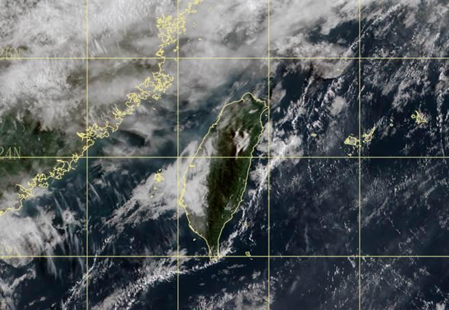 今午後天氣不穩定,山區易有雷陣雨。(中央氣象局提供)
