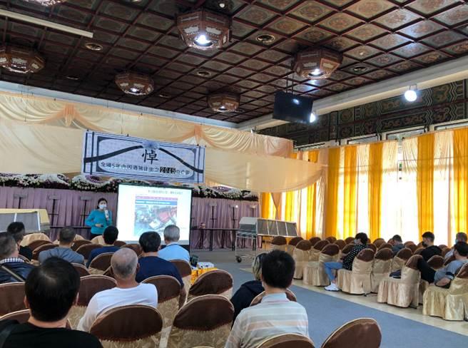 板橋監理站站6日在新北市立殯儀館舉辦「酒駕生命教育情境體驗」課程。(圖/板橋監理站提供)