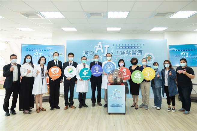 新竹榮總檢驗科流程優化大躍進,積極邁向AI人工智慧醫療,奠定偏鄉醫療基石。(院方提供/莊旻靜新竹傳真)