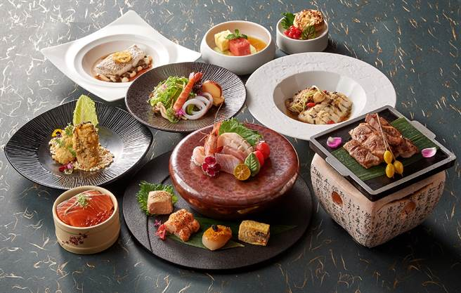 福容大飯店旅展推出的「連鎖餐券」可選擇享用麗寶福容店的日式料理。(福容大飯店提供)