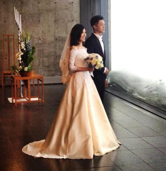 蘇慧倫和「滑板界教父」孫益民踏入婚姻。(圖/翻攝自蘇慧倫臉書)