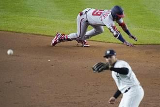 MLB》法官罕見守備失誤 洋基遭國民單局擊潰