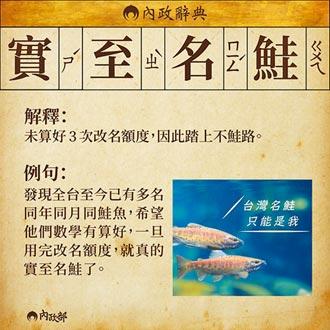 鮭魚條款一讀 改名要間隔一年