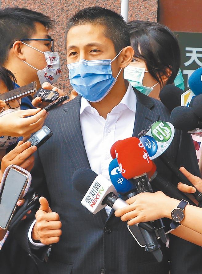 台北市黨部主委吳怡農。(趙雙傑攝)