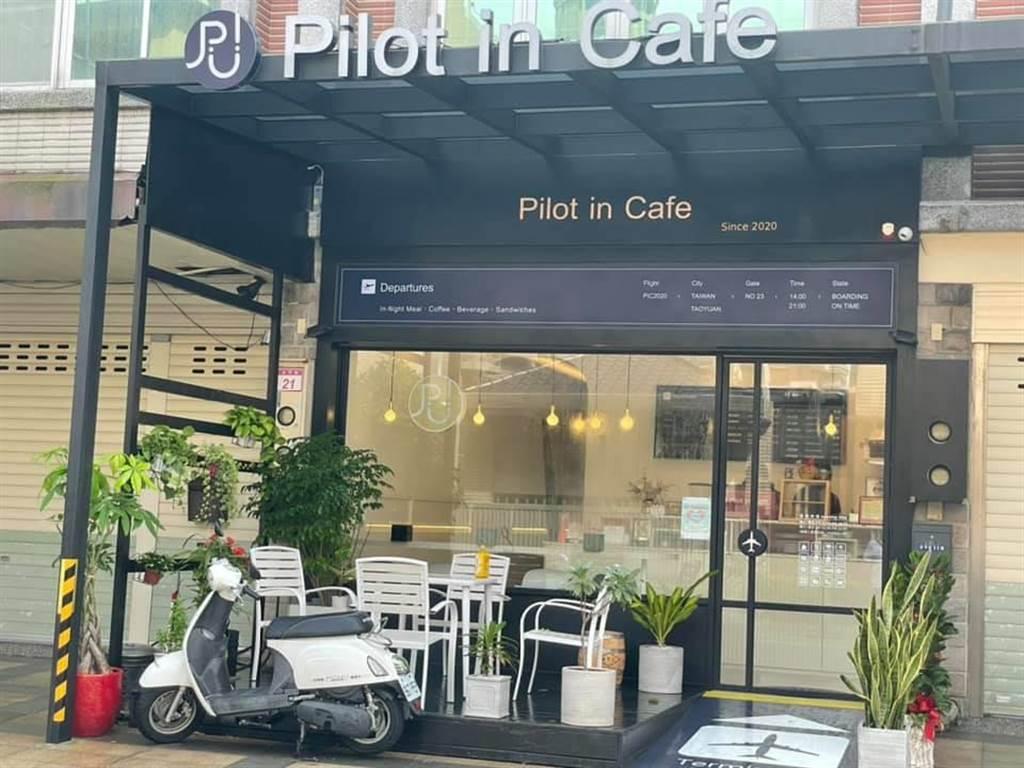 確診機師曾造訪的咖啡廳,業者無奈公布足跡多少會影響生意。(呂筱蟬攝)
