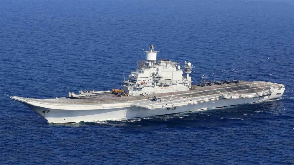 印度海軍超日王號航艦。(圖/印度海軍)