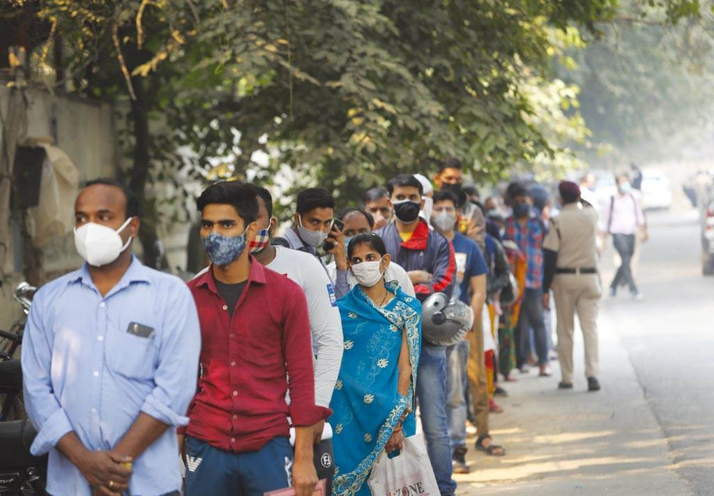 印度疫情持續升溫。(圖/美聯社)