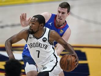 NBA》杜蘭特讀秒階段罰球建功 籃網險退金塊止敗
