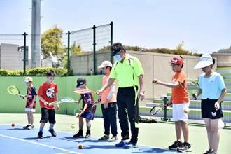 一起來運動 台中迷你網球日 網球中心熱鬧登場