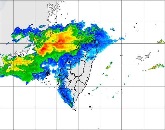 未來7至10天副熱帶高壓發威,天氣大多晴朗炎熱,大範圍降雨何時出現?氣象局給答案。圖為5/9日20:50雷達回波圖。(氣象局)