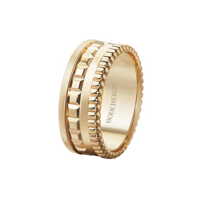 Quatre Radiant系列戒指,黃金750材質,13萬7000元。(Boucheron提供)