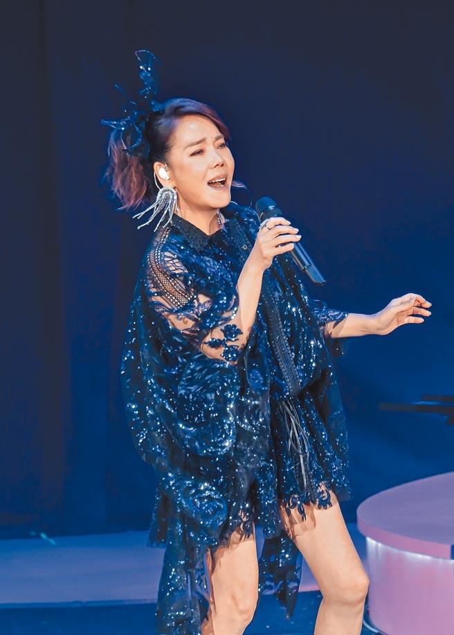 辛曉琪昨起連2晚在台北國際會議中心開唱。(羅永銘攝)