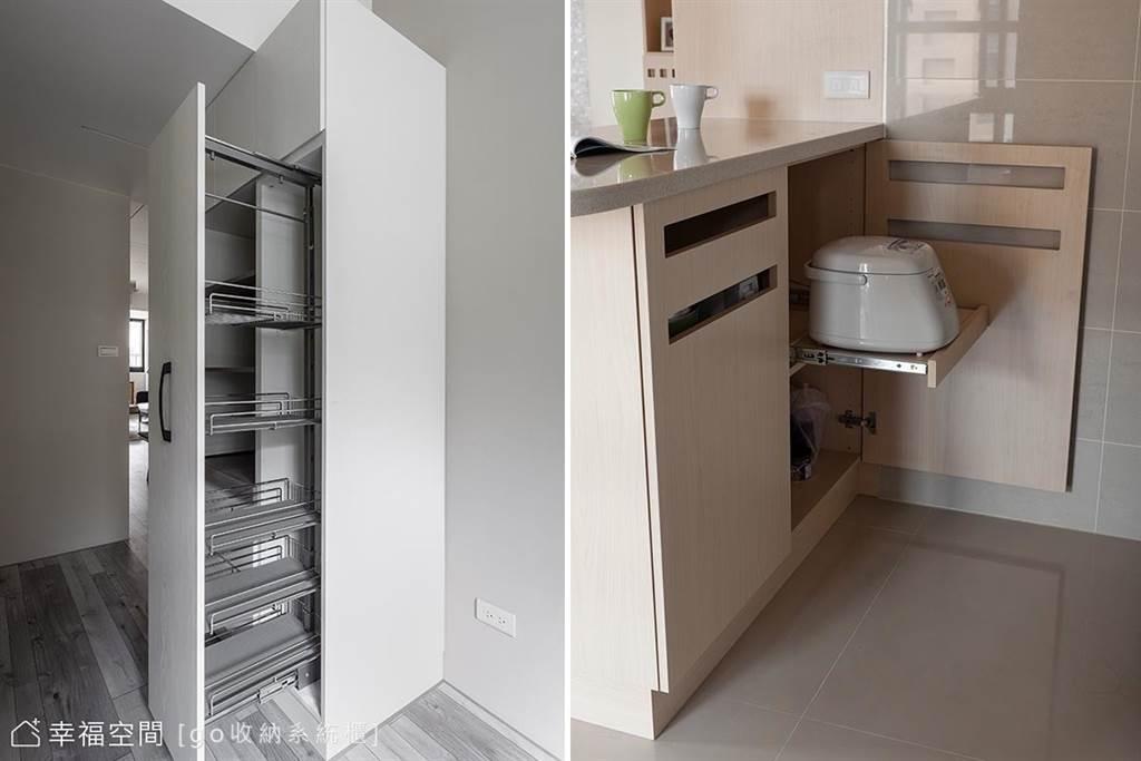 多變的五金材料,讓屋主能依需求做出適合的收納機能設計。(圖片提供/go收納系統櫃)