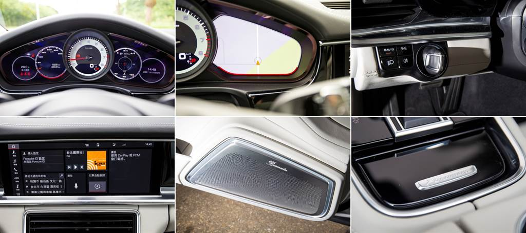 數位化是Porsche新世代車款的重點之一,不過仍保留部分傳統,像是五環表、位於左側採用轉動式的Keyless引擎啟動裝置等,同時也導入新世代配備,包含大尺寸觸控螢幕,並具備連網、Apple CarPlay無線連接等功能。