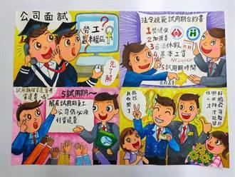 獎金10萬 兒童認識勞權四格漫畫徵件9月開跑