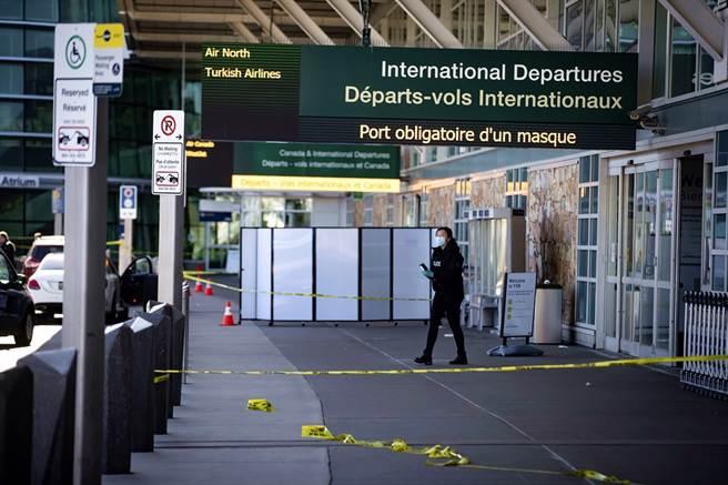 加拿大温哥华国际机场(Vancouver International Airport)9日下午爆发枪击,已知至少造成1人死亡。(图/美联社)