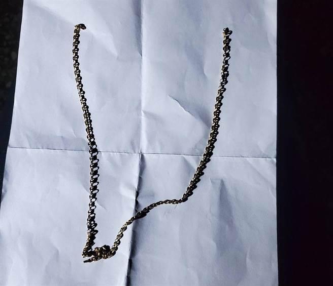 廖男趁林女不注意時,從後方搶走脖子上的K金項鍊後逃。(警方提供)