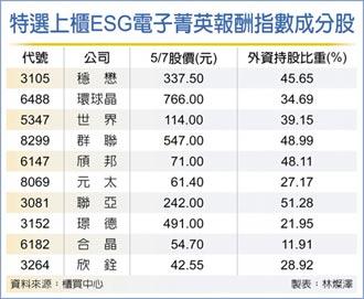 特選上櫃ESG電子指數 今發布