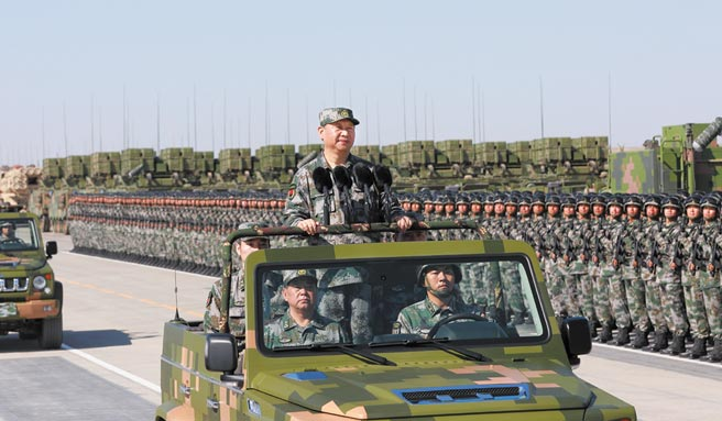 中共總書記、中央軍委主席習近平推動共軍軍改,改七大軍區為「五大戰區」。(新華社)