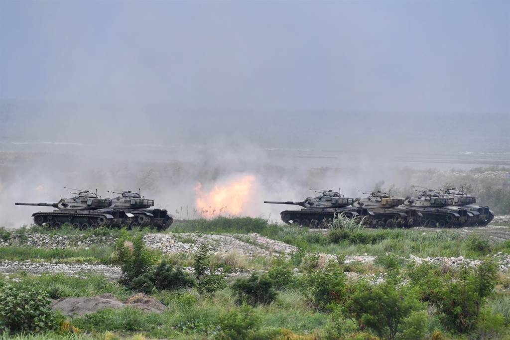 史托克斯認為,美國應聯合志同道合的夥伴,以創新的方式協助台灣執行整體防衛構想,以不對稱手段阻止北京入侵。圖為台灣漢光反登陸演習。(圖/中央社)