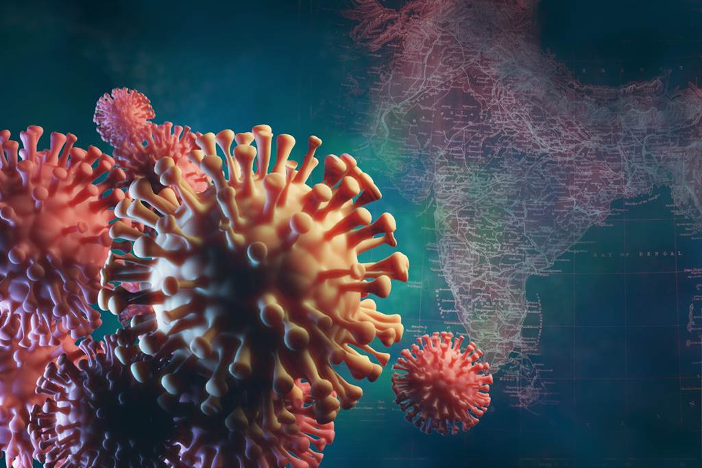 B.1.617變異病毒去年10月在印度首度現蹤,之後在「世衛6個區域中的44個國家」上傳的公開資料庫中,在逾4500個樣本中發現。(示意圖/shutterstock)