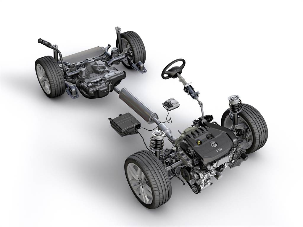 台灣福斯汽車首次於國內引進eTSI引擎,以豪華品牌規格的48V輕油電動力系統帶來全新驅動型態,此系統由輔助馬達帶動皮帶將動力傳導給引擎,在渦輪尚未全速運轉時提供起步與低速時的輔助驅動,達到節省車輛啟動時所需消耗的大量動力。