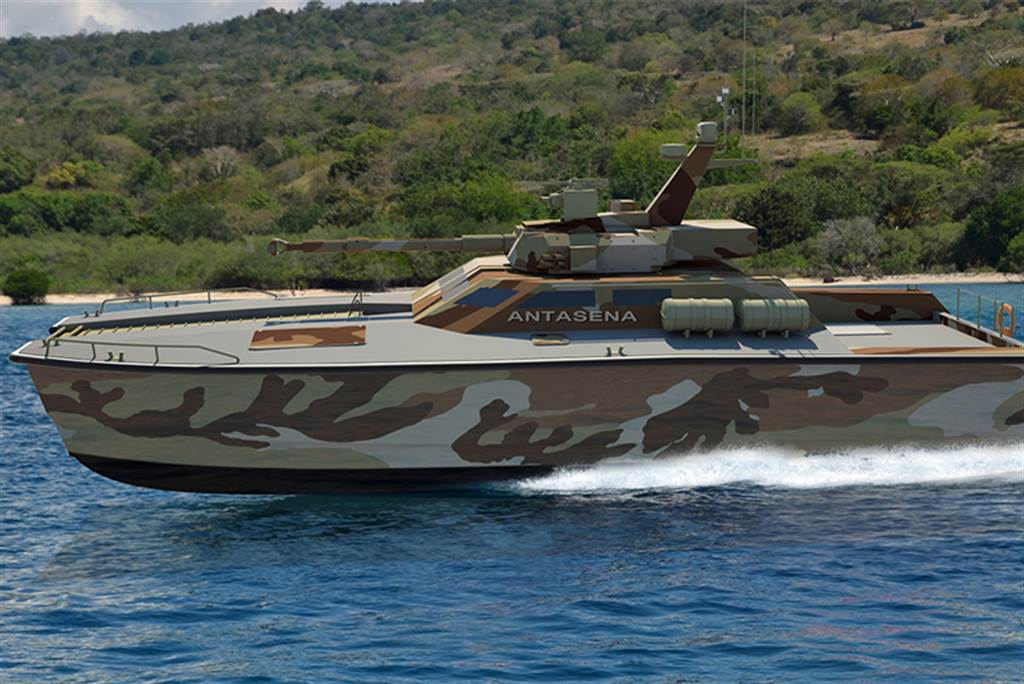 印尼自製「坦克船」可航行900公里