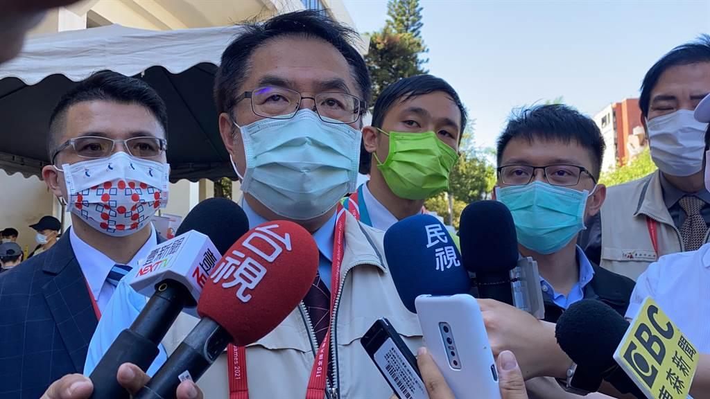 台南市長黃偉哲要求市府超前部署。(曹婷婷攝)